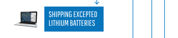 Shipping Expected Lithium Batteries