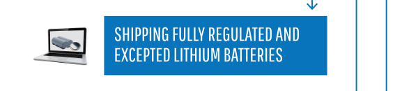 Shipping Fully Regulated and Expected Lithium Bateries