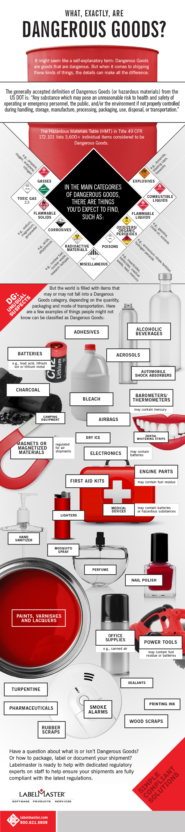 Infographic | What exactly are Dangerous Goods?