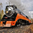 """The FRA issued a safety advisory that makes recommendations for increasing hazard mitigation for on-track railroad workers near operating trains.  The advisory applies to all federally regulated US railroad activity, including even holiday excursion services like the Southern Pacific """"Daylight"""" steam locomotive operating on the Portland & Western Railroad in Oregon on November 26th, 2016.  Image © 11/2016 by Nikki Burgess; all rights reserved."""