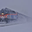 The FRA issued a new Safety Advisory related to operating practices around stations and terminals following rail passenger incidents on the East Coast last year.  Here a Chicago Metra commuter train makes heavy going through a snowstorm in Deerfield, Illinois in November of 2015. Image © 11/2015 by Nikki Burgess; all rights reserved.
