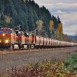 The Federal Railroad Administration is engaging in a new study that will examine crew workloads in an effort to implement operating procedures and technologies that will help to mitigate distractions for operating employees.  A BNSF train enters busy trackage near the large yard in Auburn, Washington on November 6th, 2016.  Image © 11/2016 by Nikki Burgess; all rights reserved.