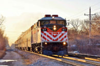 The Federal Railroad Administration (FRA) has extended the comment period for consideration of feedback on its new and somewhat controversial proposed rule to require two man locomotive crews for most railroad operations.  Some local services, like the Metra commuter train pictured operating here in the Chicago suburbs near Skokie, Illinois, would be excepted.  Image copyright 2/2016 by Nikki Burgess; all rights reserved.