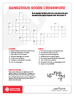 Labelmaster DG Crossword