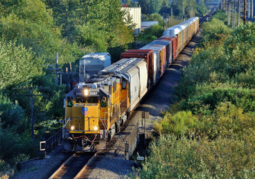 The FRA's Rail Safety Advisory Committee (RSAC) will meet in September as part of its normal review process.  Summer action on tank car standards, crew staffing (like aboard this Union Pacific local train seen in Kent, Washington earlier this month), and Positive Train Control (PTC) are expected to be prominent on the agenda. Image © 8/2016 by Nikki Burgess; all rights reserved.