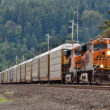 The nation gained a step this week when the FRA renewed the charter of the Railroad Safety Advisory Committee, an expert group working hard to help keep goods—like these vehicles being hauled by a BNSF train in Sumner, Washington recently—as well as people moving safely on our extensive rail network. Image © 5/2016 by Nikki Burgess; all rights reserved.